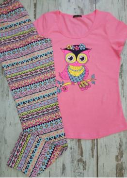 Лятна пижама с дълга долница 7118