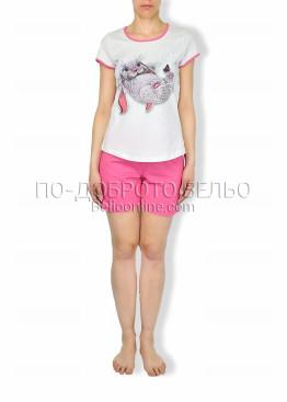 Лятна пижама с къс ръкав и къси шорти Иватекс 6180