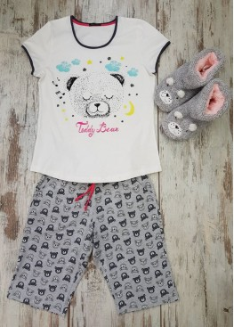 Лятна пижама с къс ръкав Иватекс 7010