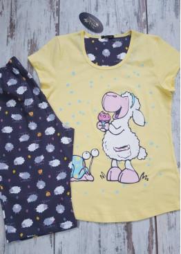 Лятна пижама с къс ръкав Иватекс 7011