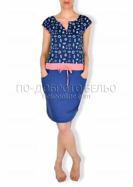 Лятна рокля  Иватекс 6315 праскова