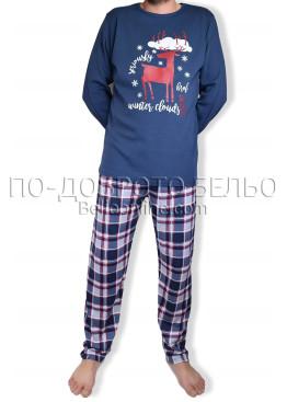Мъжка коледна пижама 6883