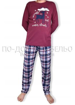 Мъжка коледна пижама 6884