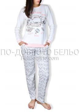 Памучна пижама интерлог Крисли 6692