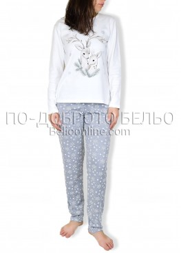 Памучна пижама интерлог Крисли 6859