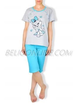 Памучна пижама за кърмачки 6396