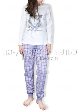 Пижама с дълъг ръкав каре Affect  6745