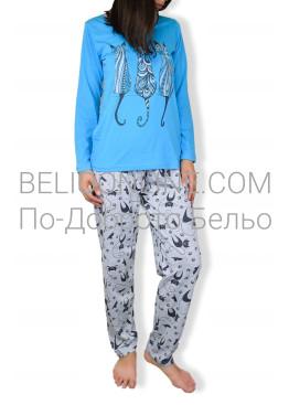 Пижама с дълаг ръкав на котки Петков 6577