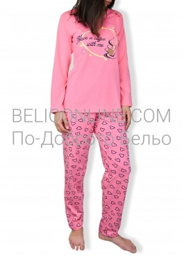 Пижама с дълаг ръкав на сърца Петков 6576