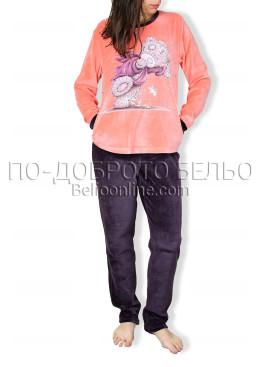 Плюшена пижама Иватекс 6709