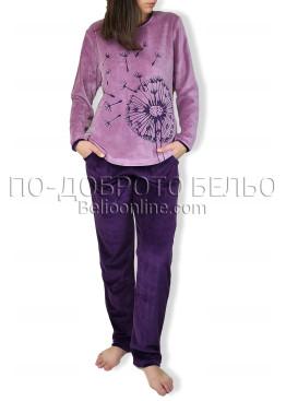Плюшена пижама IvaTex 6858