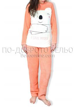 Пухена дамска пижама 6712