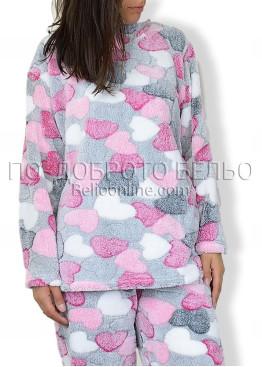 Пухена дебела пижама на сърца 6603