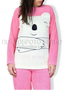 Пухкава дамска пижама 6711