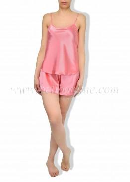 Сатенена пижама с къси панталони 6086