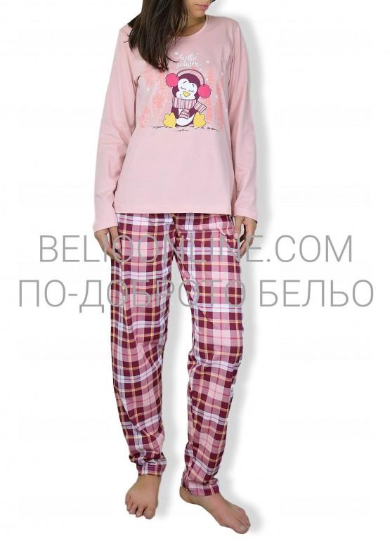 Сладурска пижама с дълъг ръкав 6606