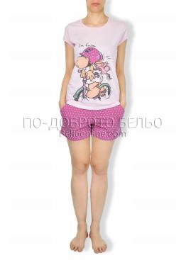Сладурска пижама с къс ръкав Affect  6183