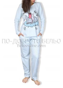 Зимна пижама интерлог с  долнище на точки 6714